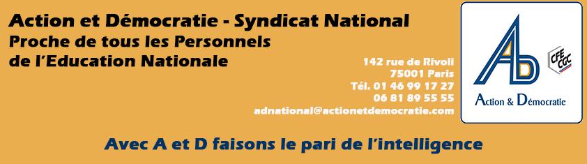 Ad syndicat pied de page sans logo new3 action et - Grille indiciaire adjoint administratif principal ...